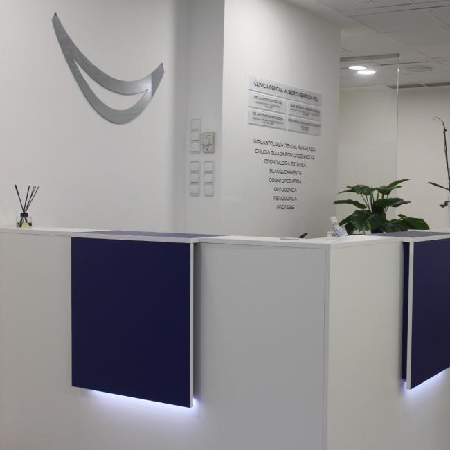 Interior de la clínica - Recepción